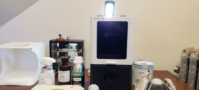 A look at my Epax X1 resin printer setup and the supplies I use