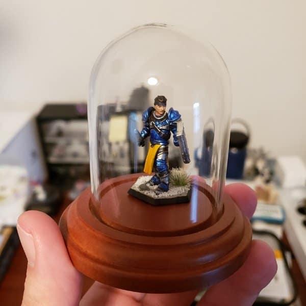 My mini glass display with a miniature inside