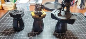 Miniature painting handles with minis