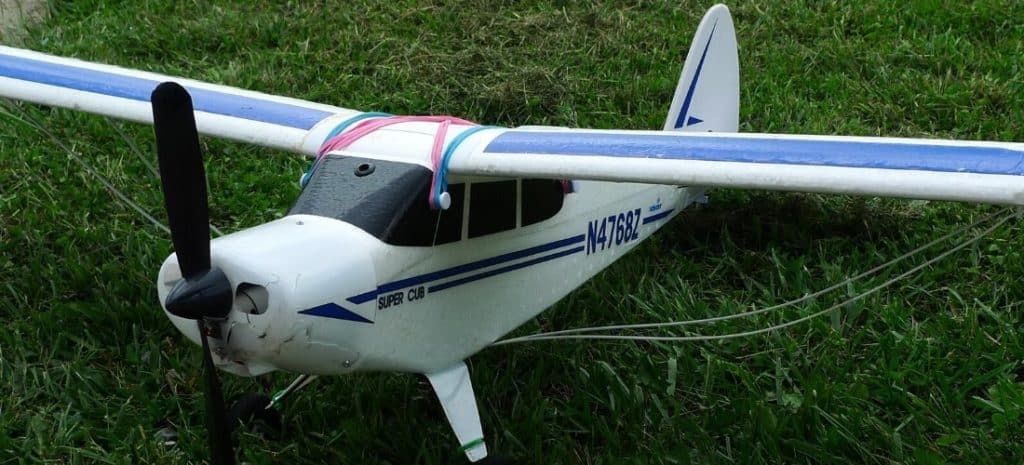 Beginner R/C plane on grass
