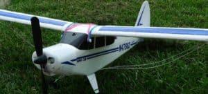 Beginner R/C plane on grass
