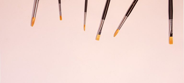 Sable brushes lined up