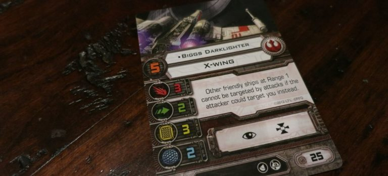 Star Wars Fantasy Flight Pilot Card