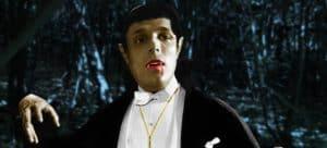 Vampire in cemetery