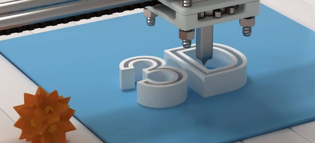 "3D printer printing out ""3D"""