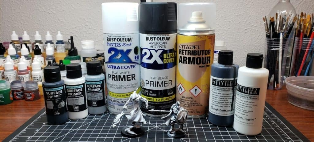 Different Primers for Miniature Painting