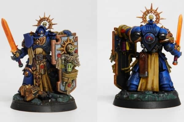 Painted Miniature Front And Back