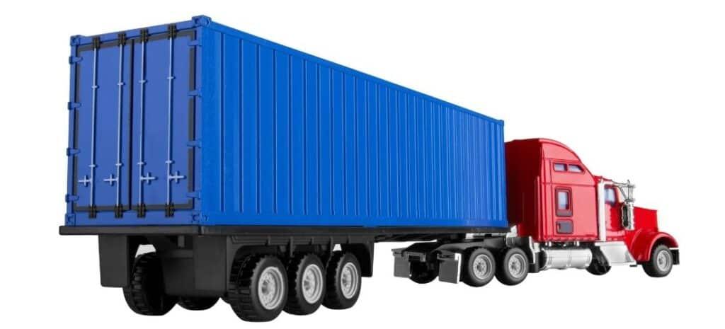 Semi Truck and Trailer Model