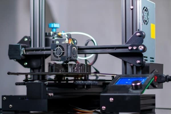 A front view of the Creality Ender 3 3D printer.