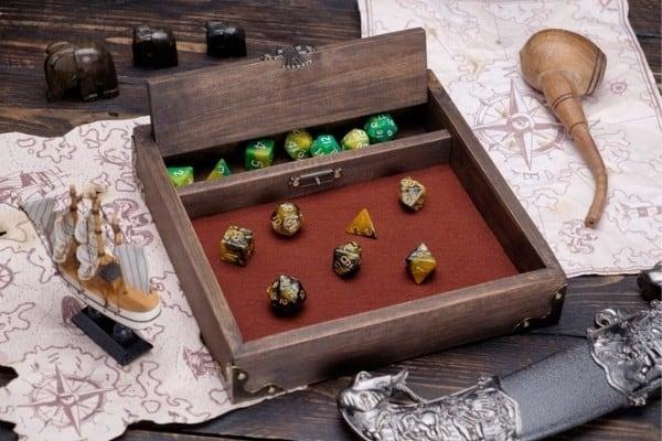 Handmade D&D Dice Tray With Storage Box