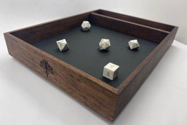 Exotic Wood (Walnut) Dice Tray