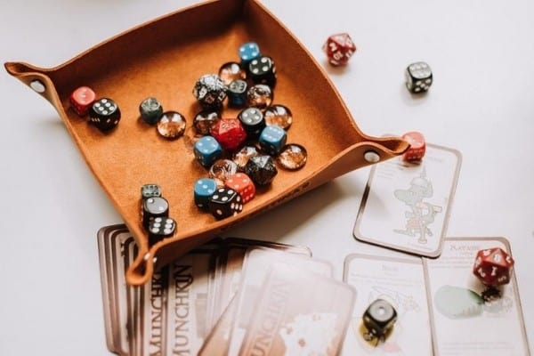 Roll-Up Leather Dice Rolling Tray / Mat