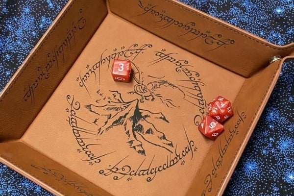 Lord of the Rings Dice Tray (Synthetic Leather)