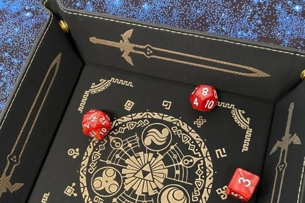 Zelda Dice Tray (Synthetic Leather)