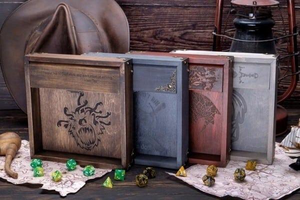Custom Wood DnD Dice Tray / Dice Vault